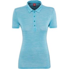 Löffler Merino Poloshirt Mujer, topaz-melange